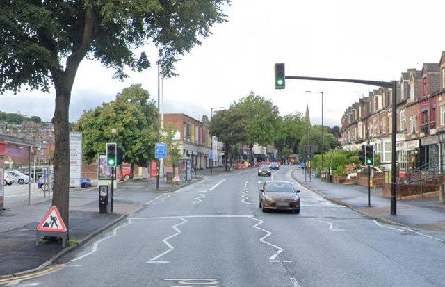 Ecclesall Road, Sheffield, where police received reports of a fight breaking out (pic: Google)