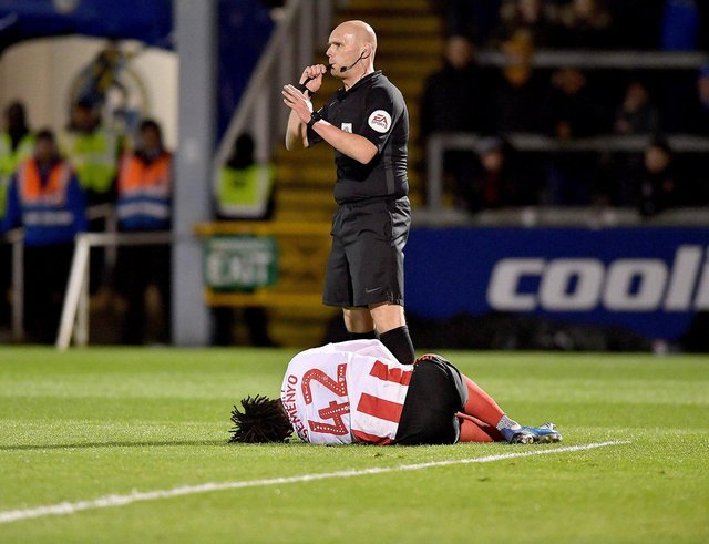 Antoine Semenyo looks set to be ok for Bristol City's Sheffield Wednesday clash. (Picture by FRANK REID)
