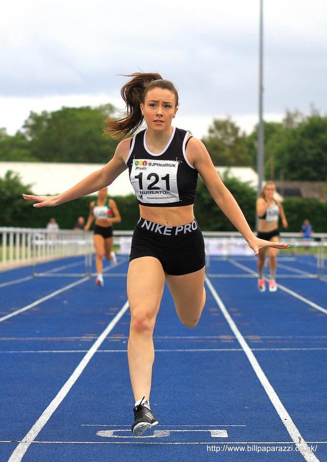 Melissa Coxon, who specialises in 400m hurdles.