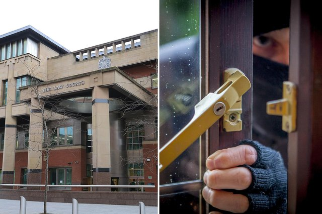 Sheffield Crown Court, pictured, heard how a serial burglar has been given one last chance to make something of his life.