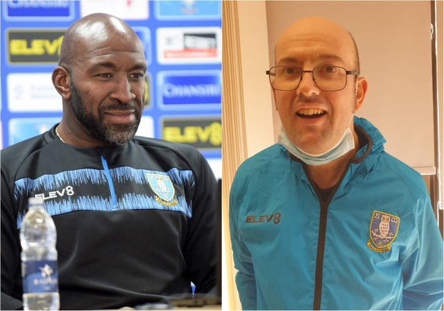 Sheffield Wednesday manager Darren Moore shared a touching moment with Stephen Dix, who suffers from learning difficulties.
