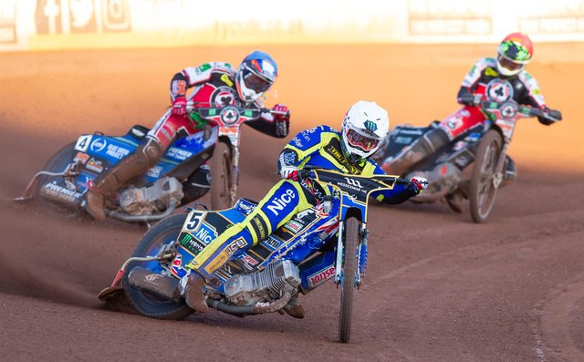 Jack Holder picked up an impressive 13 points for Sheffield against Ipswich. Picture: Taylor Lanning