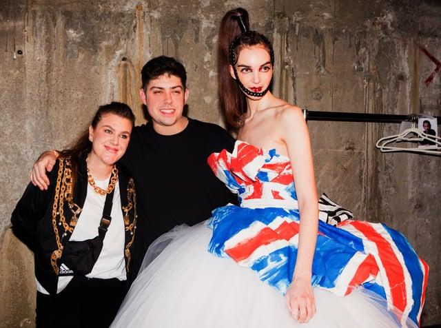House of Sheldon Hall designers, Steven Sheldon and Emma Hall, at ONOFF London, a platform dedicated to showcasing emerging fashion talent at London Fashion Week. Photo by Nick Ilott.