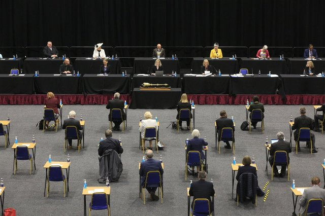 Sheffield City Council meeting May 2021 held at Ponds Forge. Picture: Chris Etchells
