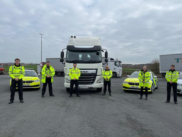 South Yorkshire Police traffic officers took part in a week of action aimed at the drivers of commercial vehicles