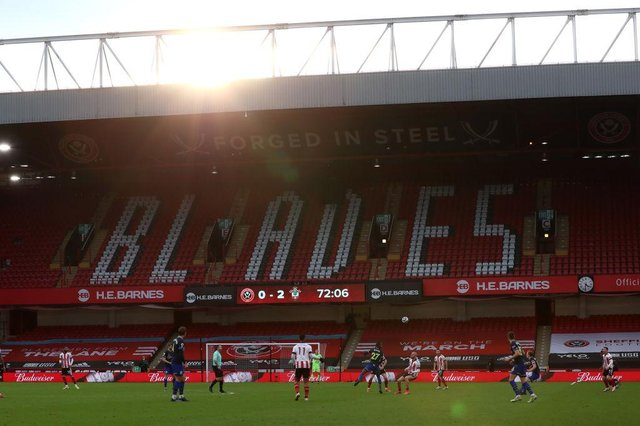 Bramall Lane, the home of Sheffield United Football Club. (Photo by Lee Smith- Pool/Getty Images)