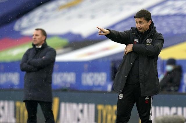 Paul Heckingbottom's Blades take on Chelsea on Sunday: Andrew Yates/Sportimage