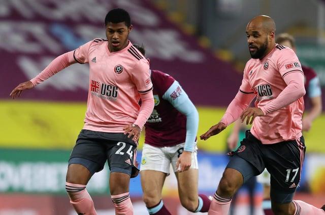 Rhian Brewster and David McGoldrick of Sheffield United: Simon Bellis/Sportimage