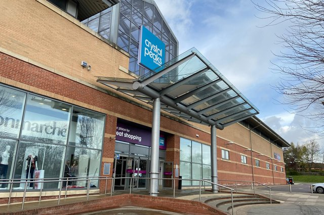 Crystal Peaks shopping centre, in Sheffield, where work to create new retail units is underway