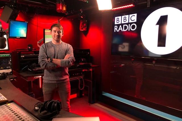James Cusack at the Radio 1 studio.