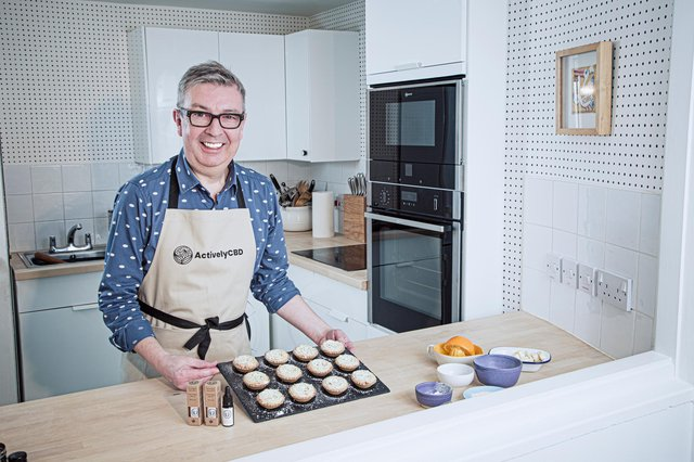 Howard Middleton with a batch of his mince pies.
