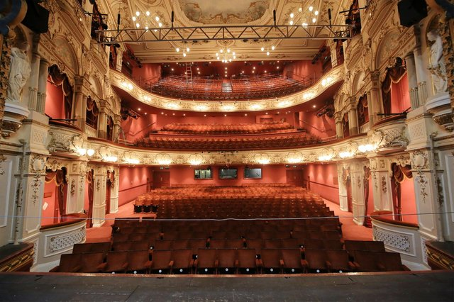 The beautiful Lyceum Theatre auditorium, pictured when it was closed during lockdown