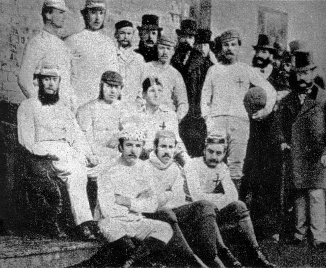 An 1857 team image of Sheffield Football Club made available by the club on October 24, 2007, when the world's oldest football club celebrated their 150th anniversary