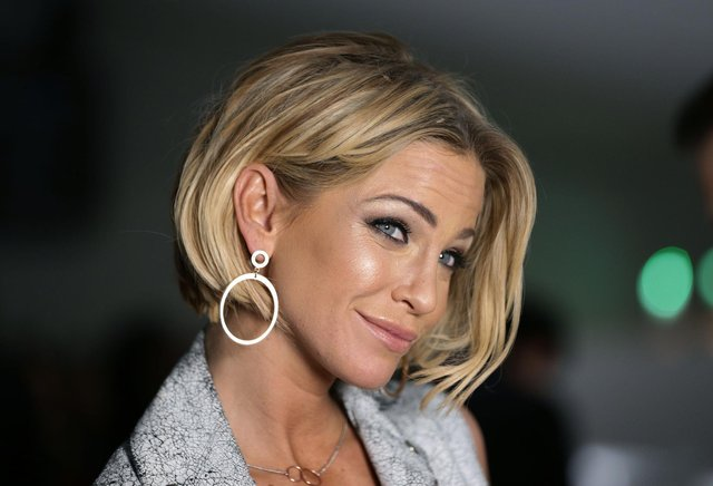 Sarah Harding, pictured here attending the Jean-Pierre Braganza Autumn/Winter 2015 London Fashion Week show, has died, aged 39, of breast cancer