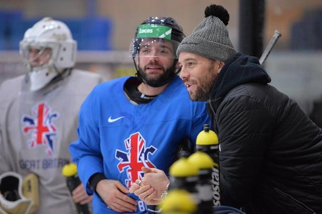 Sheffield favourite Jason Hewitt at a Team GB camp