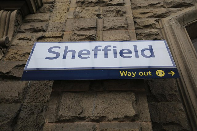 EMR new train service at Sheffield station. Picture: Chris Etchells