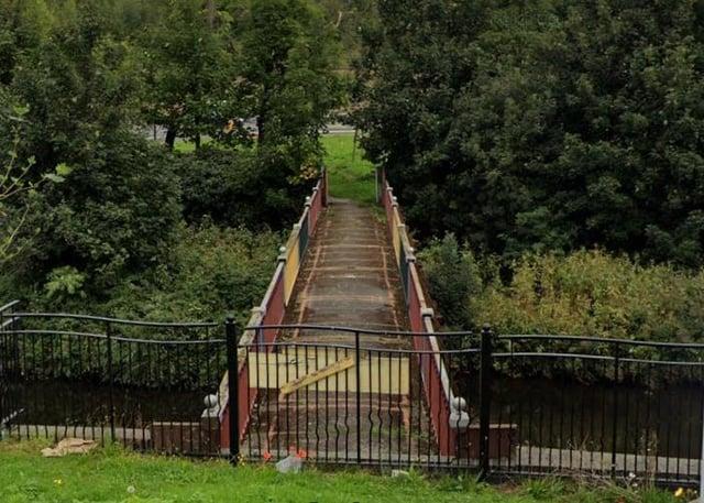The footbridge.