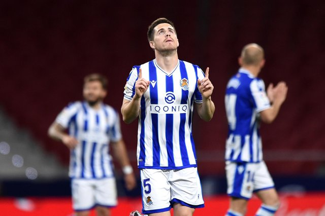 Spanish side Real Sociedad wear kits made by Macron, who have now come on board with Sheffield Wednesday. (Photo by Denis Doyle/Getty Images)