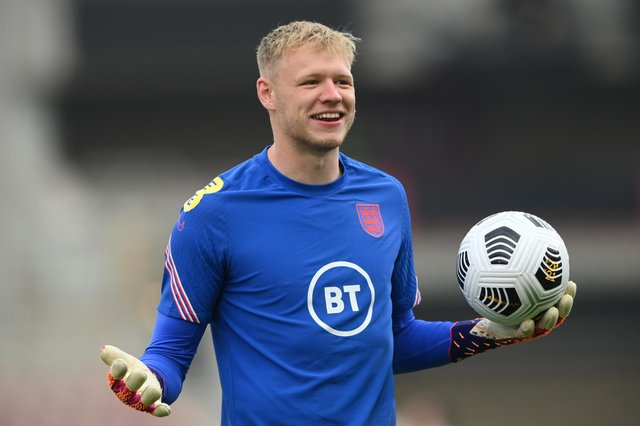 Aaron Ramsdale will be in the England squad which faces Denmark tonight: Stu Forster/Getty Images
