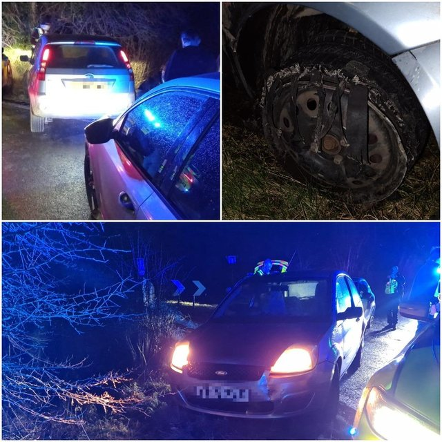 The driver was eventually stopped in Spinkhill, near Killamarsh.