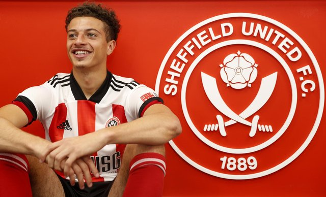 Ethan Ampadu on his signing for Sheffield United at Bramall Lane, Sheffield: Darren Staples/Sportimage