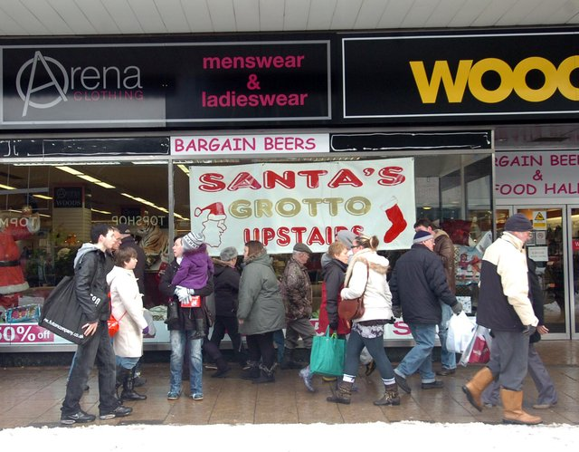 Christmas shoppers over the years