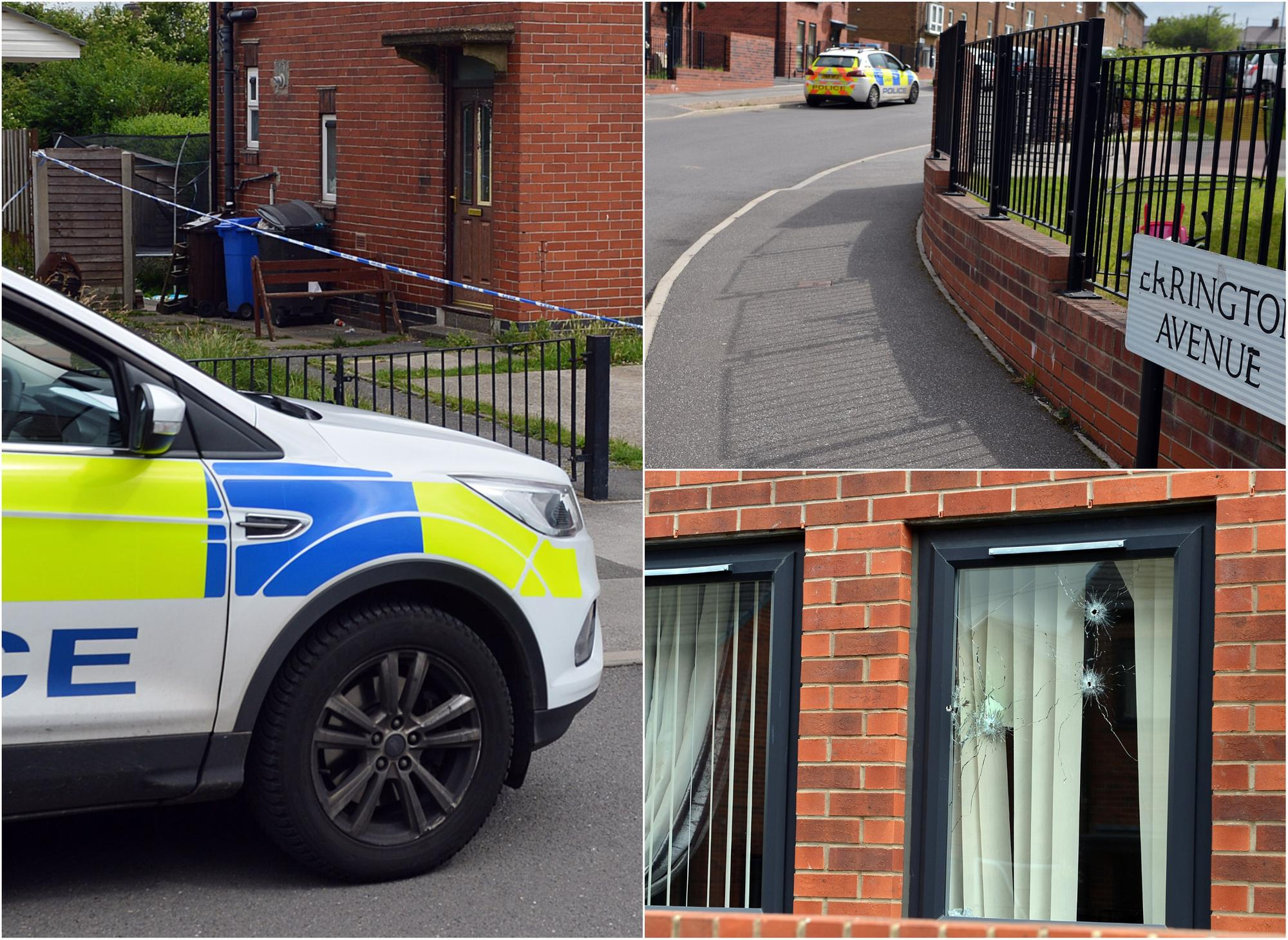 Trio charged over shootings on Sheffield estate after two gun attacks in less than 10 minutes