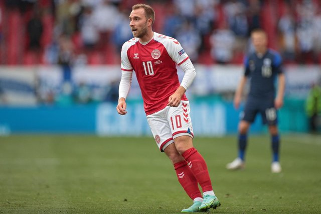 Denmark's midfielder Christian Eriksen  (Photo by HANNAH MCKAY/POOL/AFP via Getty Images)