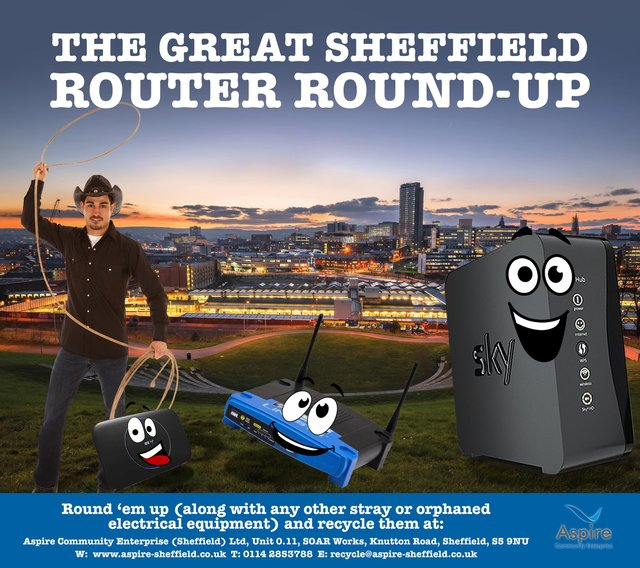'Great Sheffield Router Roundup' campaign