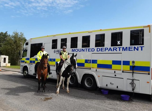 Mounted police taking part in action day at Manor and Arbourthorne