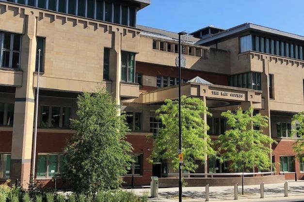 Sheffield Crown Court, pictured, heard how a South Yorkshire stalker has been jailed after he preyed upon his two ex-partners.