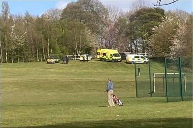 A woman's body was found in High Hazels Park, Darnall, Sheffield, yesterday