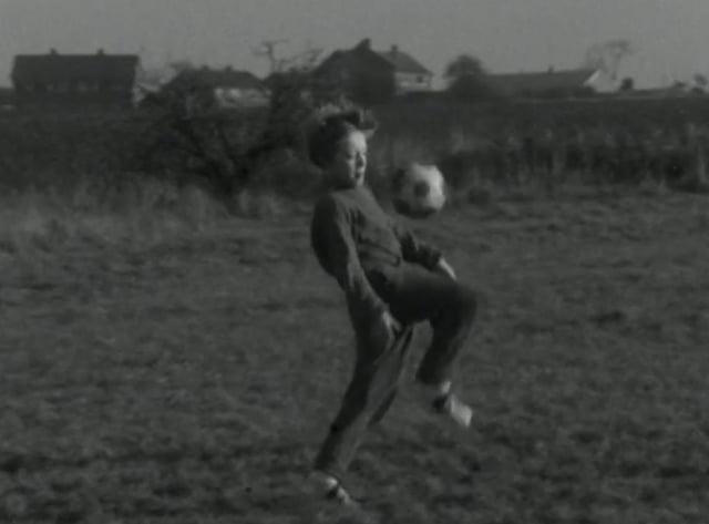 Colin Walker practising his football skills