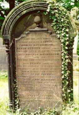 The Denton family grave (Courtesy of Karen Lightowler)