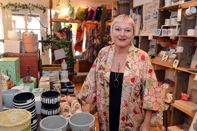 Bird's Yard shop on Chapel Walk Sheffield reopens. Owner Michelle.