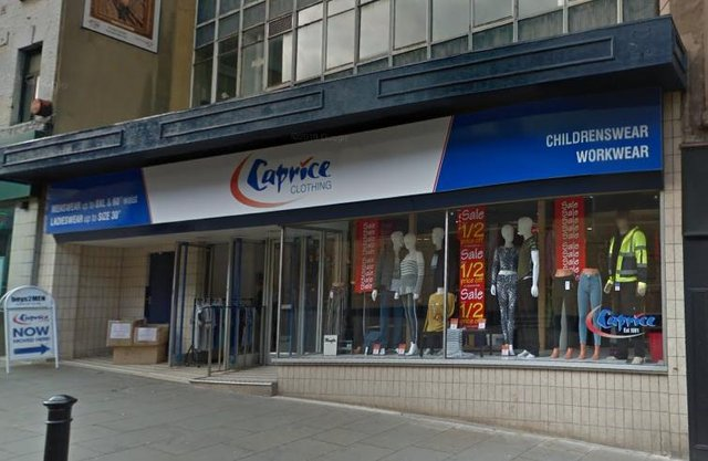 Caprice Clothing, on the High Street, Rotherham
