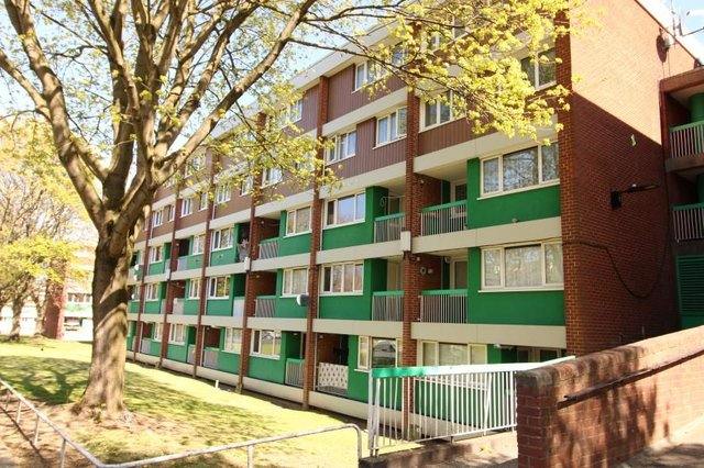 The apartment is in this block in Sharrow, a popular district of Sheffield, only a stones throw away from Ecclesall Road.