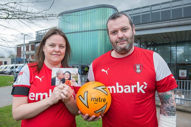 Leanne Harry and her brother Mark Rudman, who are planning a fundraising football match in memory of their dad Mark Rudman