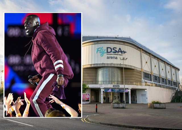 Stormzy is one of the acts who was due to play FlyDSA Arena later in the year. Picture Getty Images.