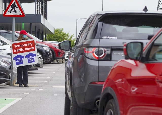 A one-way system has been introduced to deal with traffic caused by the opening of the new Tim Hortons restaurant near Crystal Peaks, Sheffield