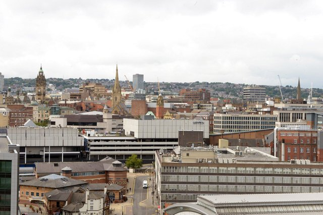 Sheffield Stock - view of city from Park Hill Flats