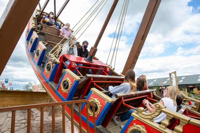 The Ghostly Galleon ride at Gullivers Valley