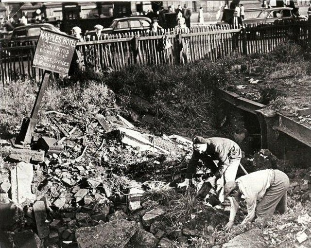 70 bodies were pulled from the rubble of the Marples Hotel in Fitzalan Square