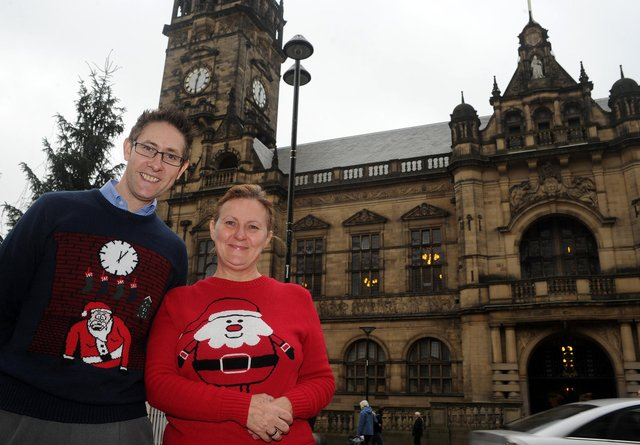 Who can you spot in these Christmas jumper pictures?