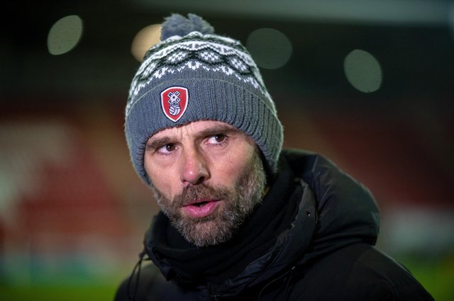 Rotherham United manager Paul Warne. Photo: Bruce Rollinson.