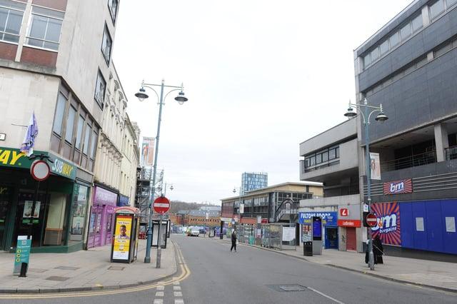 Castlegate area of Sheffield