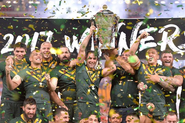 Australia - 2017 Rugby League World Cup champions. Photo: Bradley Kanaris/Getty Images