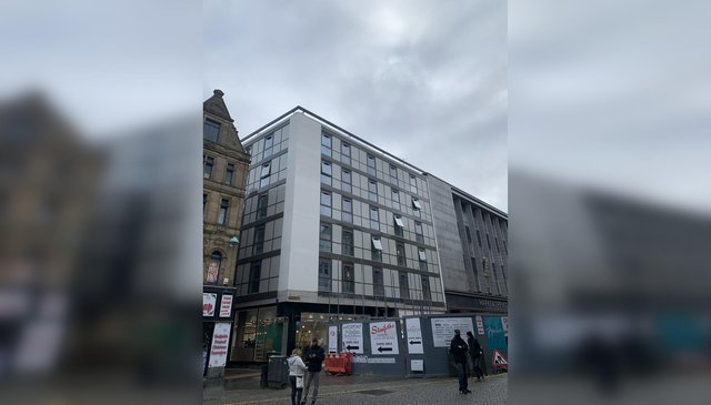 The new apartment block in Sheffield city centre has been revealed after scaffolding was finally removed from Chapel Walk and Fargate (photo: Adam Murray)