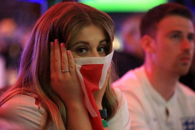England v Italy in the Euro 2021 final. Fans at The Common Room. Picture: Chris Etchells