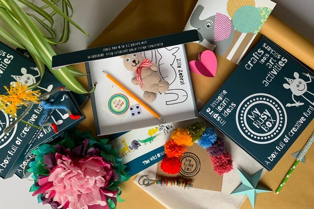 My Busy Box creative craft pack.